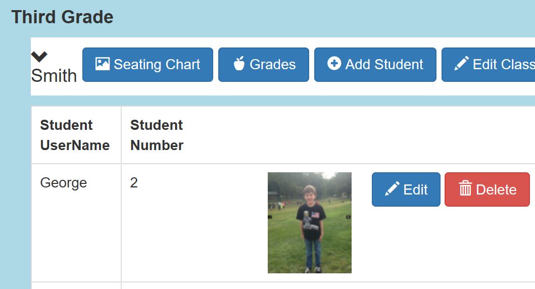 student photos for seating chart unison school music education
